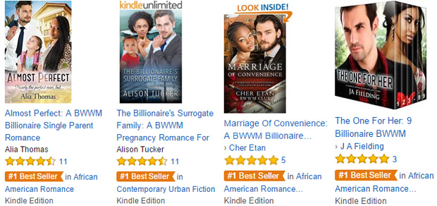 Best Selling BWWM Romance Books From SRB